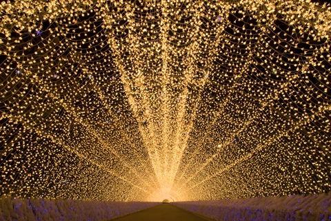 200m 光のトンネル