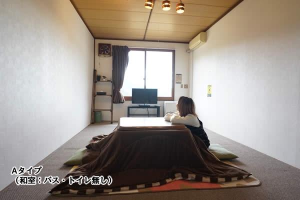 Aタイプ客室一例(和室、お風呂・トイレ無し)