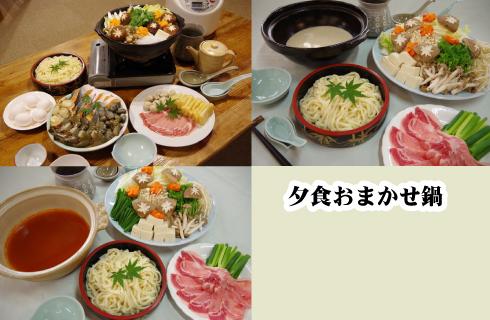 夕食鍋一例