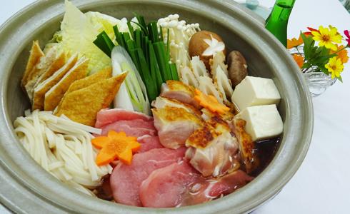 夕食一例(ちゃんこ鍋)