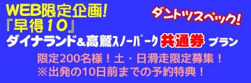 ダイナランド・高鷲スノーパーク共通券付プラン!