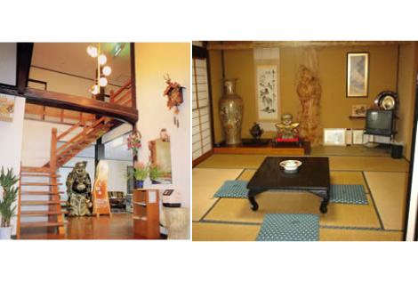 左:玄関/右:和室(一例)